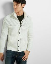 Express - Sherpa Lined Mock Neck Fleece Sweater - Lyst