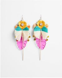 Express | Flower Tassel Drop Earrings | Lyst