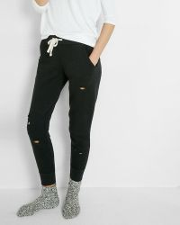 Express - Distressed Jogger Pant - Lyst