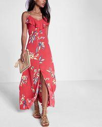 Jessica simpson floral print halter maxi dress