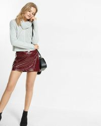 Express Cowl Neck Boxy Knit Cropped Sweater | Lyst