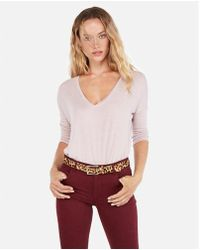 Express - One Eleven Banded Bottom London Tee - Lyst
