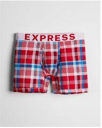 Express - Multicolor Plaid Boxer Briefs - Lyst