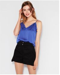 Express - Ruffle Trim Downtown Cami - Lyst