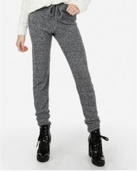 a2e62f90bf0a54 Express Star Marled Stretch Terry Leggings in Gray - Lyst