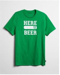 Express - Here For The Beer Graphic Tee - Lyst