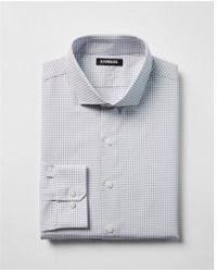 Express - Extra Slim Check Print Cotton Spread Collar Dress Shirt - Lyst