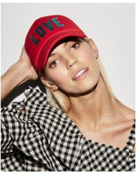Express - Love Trucker Hat - Lyst