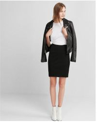 Express - High Waisted Seamed Pencil Skirt - Lyst