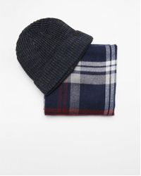 Express - Plaid Scarf And Beanie Set - Lyst