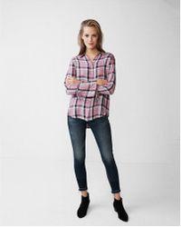 Express - Plaid Bell Sleeve Shirt - Lyst