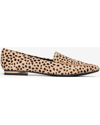 Express - Cheetah Lennox Loafers Brown - Lyst