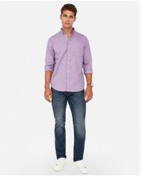 Express - Slim Solid Soft Wash Oxford Shirt - Lyst