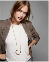 Express - Hell Crescent Pendant Necklace - Lyst