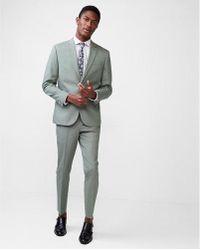 Express - Slim Olive Cotton Sateen Suit Pant - Lyst