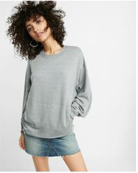 Express - One Eleven Heathered Oversized Sweatshirt - Lyst