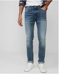 Express - Slim Light Wash Tough Stretch+ Jeans, Men's Size:w36 L30 - Lyst