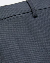 Express - Big & Tall Slim Blue Mini Check Wool Suit Pants Blue - Lyst