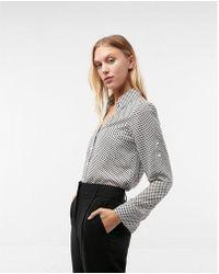 Express - Original Fit Dot Portofino Shirt - Lyst