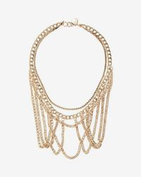 Express - Layered Link Chain Statement Necklace - Lyst