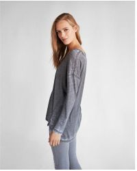 Express - Burnout Oversized Tunic Tee - Lyst