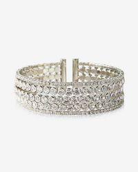 Express | Bezel Stone Cuff Bracelet | Lyst