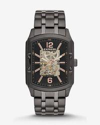 Express - Automatic Skeleton Bracelet Watch - - Lyst