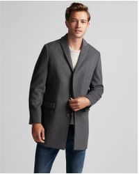 Express | Twill Recycled Wool Topcoat | Lyst