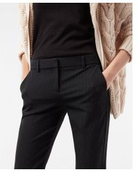 Express - Mid Rise Pinstripe Columnist Barely Boot Pant - Lyst
