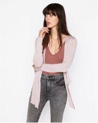 Express - One Eleven Tie Front Cover-up - Lyst