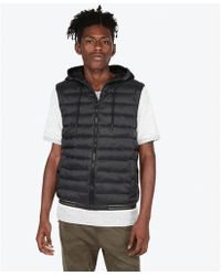 Express - Hooded Puffer Vest - Lyst
