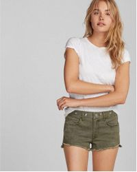 Express - Low Rise 2 Inch Grommet Shorts - Lyst