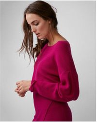 Express - Drop Shoulder Cropped Sweater - Lyst