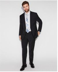 Express - Extra Slim Performance Stretch Wool-blend Check Suit Pant - Lyst
