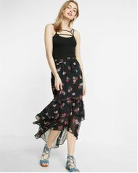 Express - High Waisted Floral - Lyst