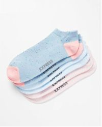 Express - 3 Pack Print Pastel Socks - Lyst