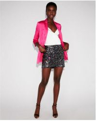 Express - Rainbow Sequin Mini Skirt - Lyst