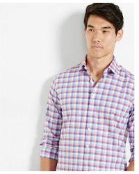 Express - Classic Check Dress Shirt - Lyst