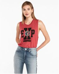 Express - Exp Logo Crew Muscle Tank - Lyst