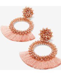 Express - Wrapped Tassel Earrings - Lyst