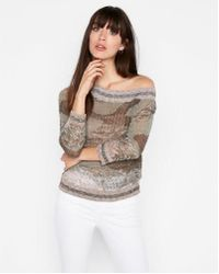 Express - Asymmetrical Off The Shoulder Pullover Sweater - Lyst