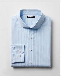 Express - Slim Striped Button-collar Dress Shirt - Lyst