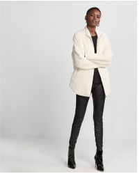 Express - Oversized Fleece Jacket - Lyst