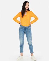 60ac81b63ce2 Lyst - Express Slim Fit Sleeveless Portofino Shirt in Blue