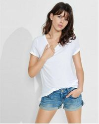 Express - One Eleven Crew Neck Skimming Tee - Lyst