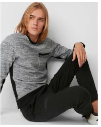 Express - Ig & Tall Marled Knit Crew Neck Tee - Lyst