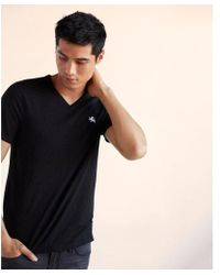 Express - Small Lion Eco-friendly V-neck Tee - Lyst
