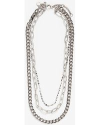 Express - Three Row Multi-layered Chain Necklace - Lyst