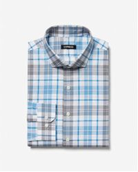 Express - Slim Plaid Print Dress Shirt - Lyst