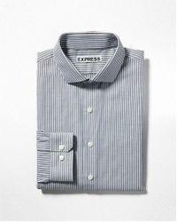 Express - Slim Fit Striped Dress Shirt - Lyst